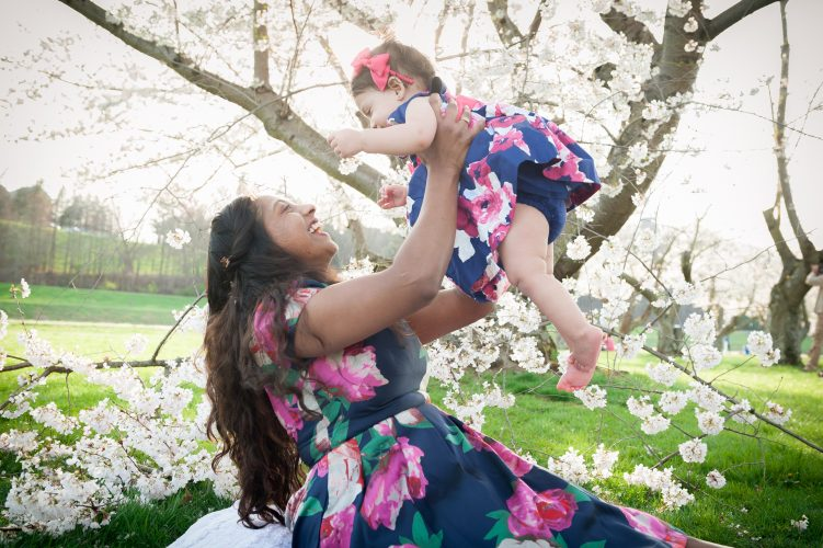 Athens ohio, OH, family photography near the cherry trees