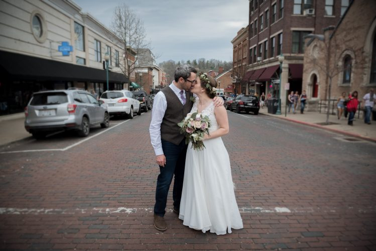 Marriage_Photography__Bride_Groom_wedding_Athens_Ohio_OH_lifestyle_documentary_Cherry_trees_spring_university_college_town_court_street