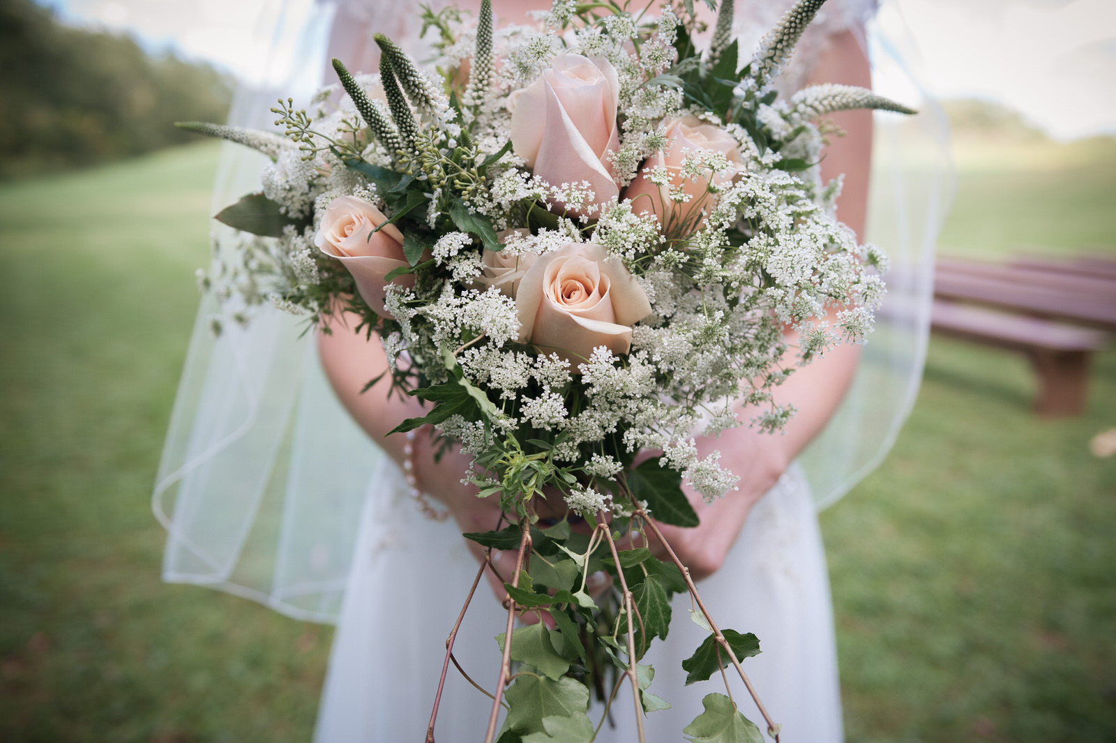 Hocking-hills-athens-lancaster-logan-ohio-wedding-photography-photographer-marriage-heart of the country-outdoors-princess-bride-flowers-pink rose-babies breath