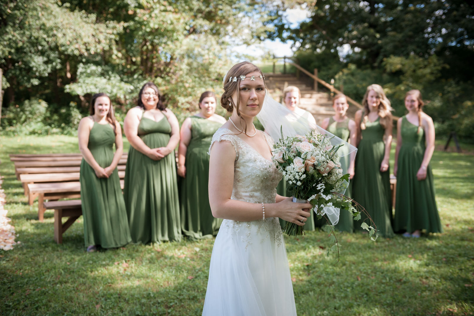 Hocking-hills-athens-lancaster-logan-ohio-wedding-photography-photographer-marriage-heart of the country-outdoors-princess-bride-bridesmaids