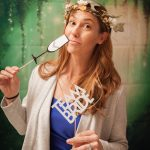 Bride props with forest theme photobooth