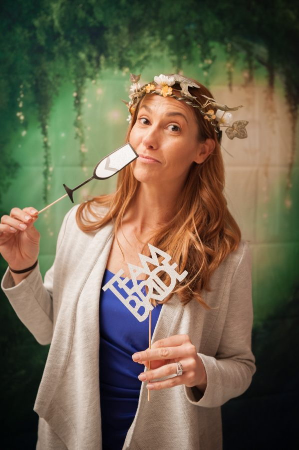 photobooth with forest theme