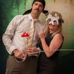 photobooth with princess bride theme and forest props