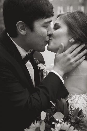 dramatic wedding photography pose at Ohio University in Athens Ohio