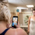 cell phone photography at wedding in Granville Ohio