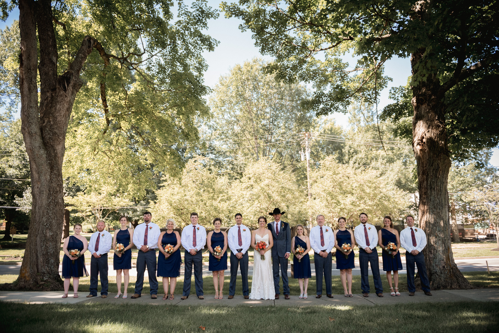 whole bridal party wedding photographer in Granville Ohio