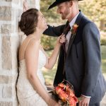 intimate bride and groom wedding photography at granville wedding