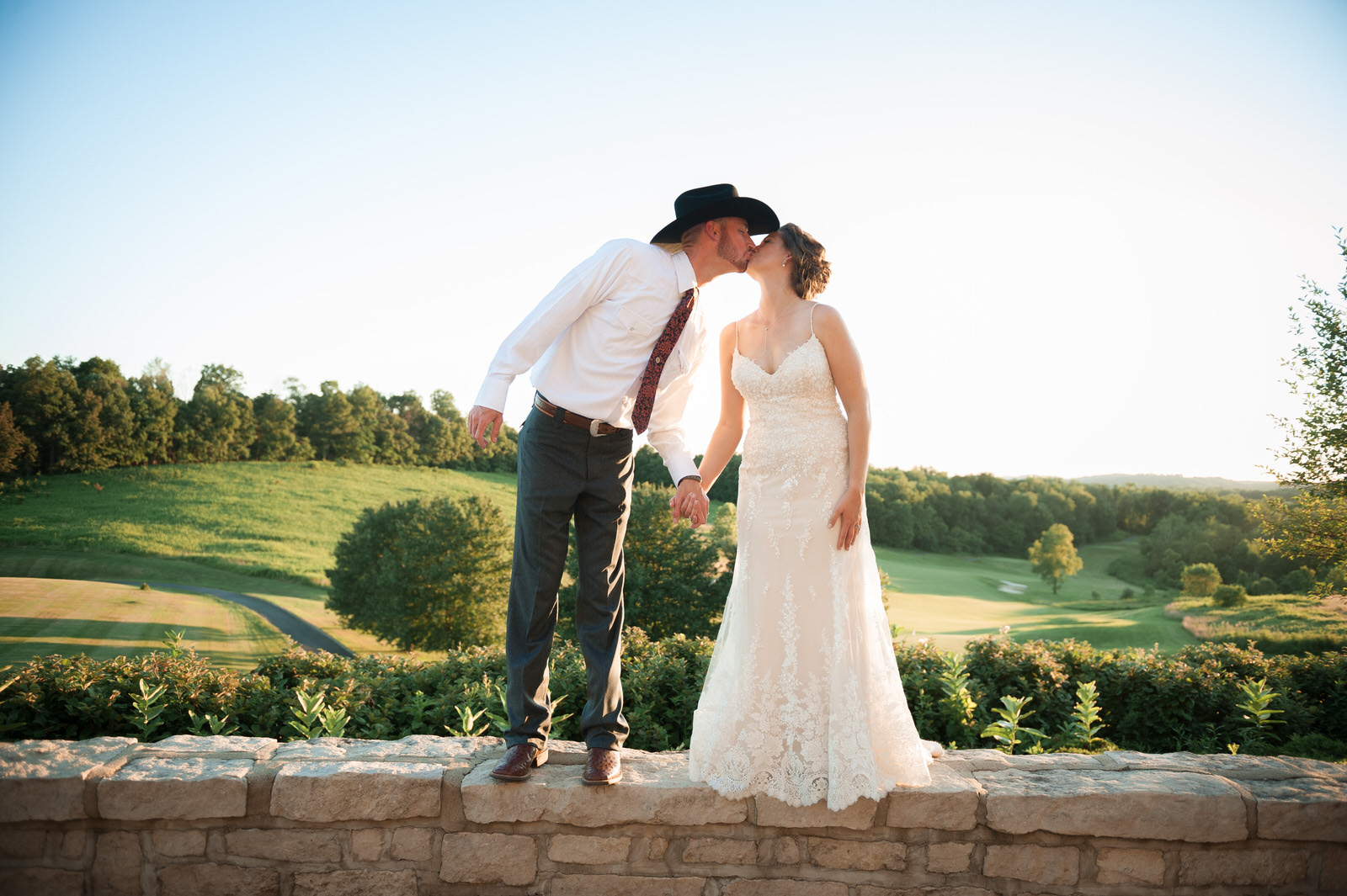 Golden Hour wedding photography at The Virtues Gold course in Nashport Ohio
