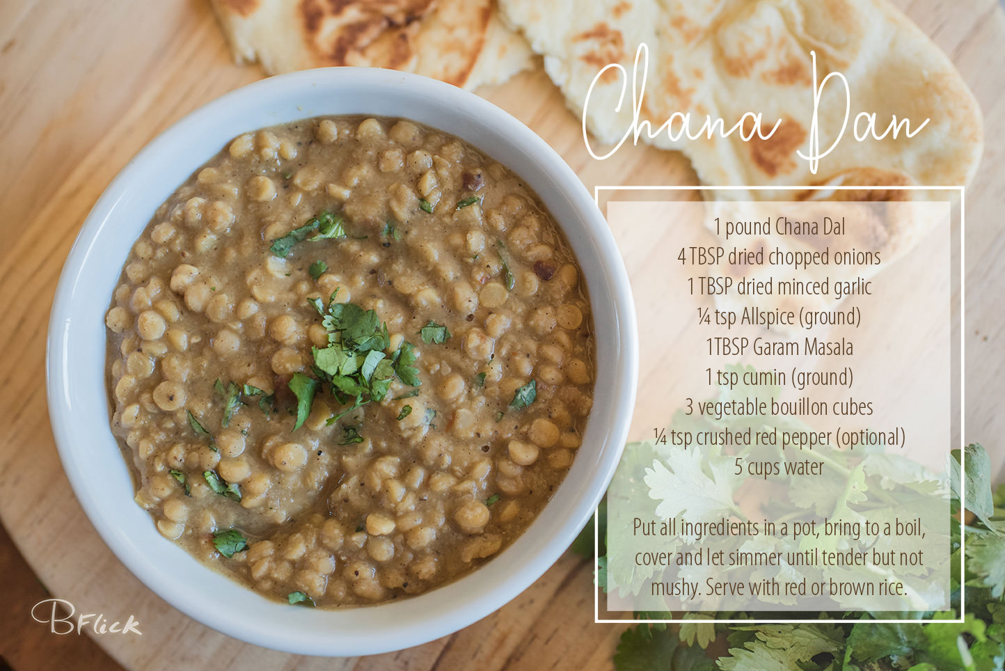 indian bean soup served with rice and naan