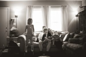 real life family photography in your home