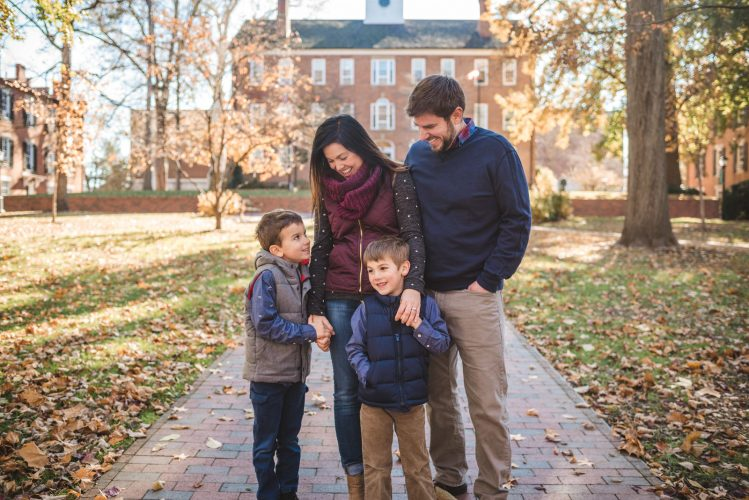 Family portrait photography at Ohio University