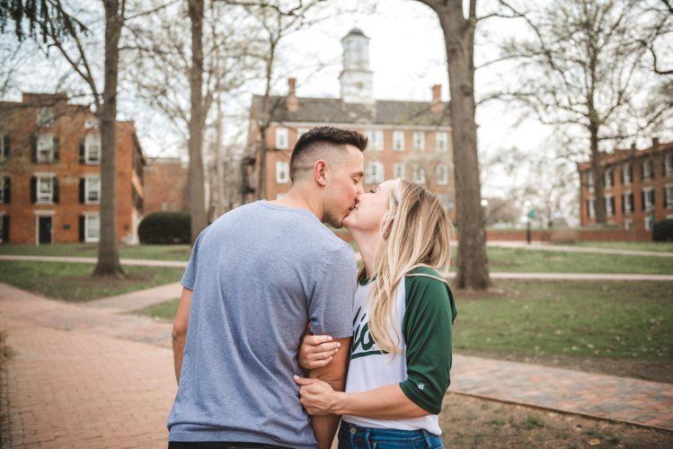 Engagement session for wedding at Ohio University