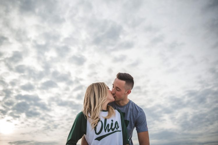 Engagement session up in the clouds in Athens Ohio