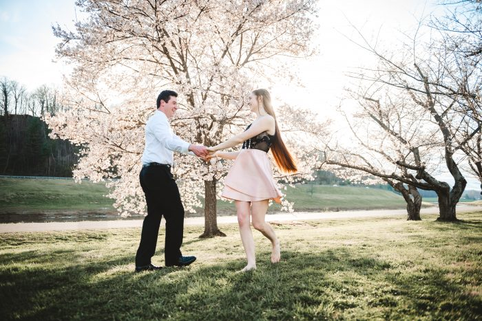 Athens Cherry Trees Engagement